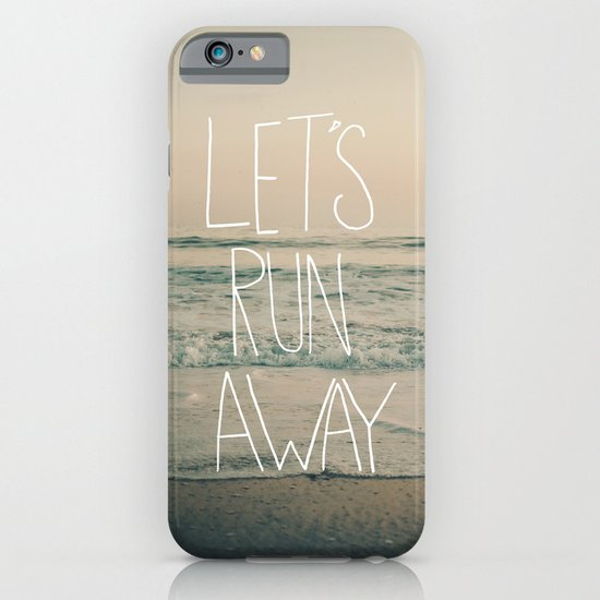 Let's Run Away by Laura Ruth and Leah Flores iPhone & iPod Case