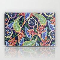 Oak Paisley - navy Laptop & iPad Skin