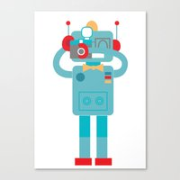 Robot loves Diana Canvas Print