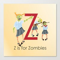 Z Is For Zombies Canvas Print