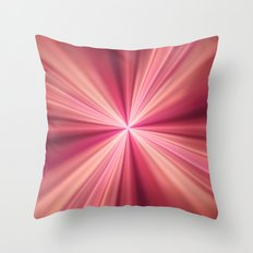 Pink Rays Abstract Fractal Art Throw Pillow