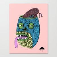 Bird Brain Bill the Zombie Canvas Print