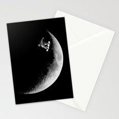 Moon boarder Stationery Cards