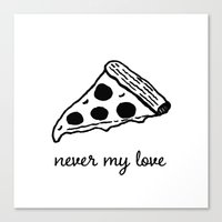 Never My Love Canvas Print