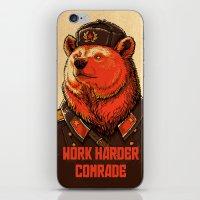 Work Harder, Comrade! iPhone & iPod Skin