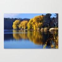 November Pond  Canvas Print