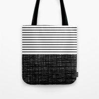 platno (black stripes) Tote Bag
