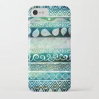 floral iPhone & iPod Cases featuring Dreamy Tribal Part VIII by Pom Graphic Design
