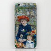 Pierre-Auguste Renoir - Two Sisters iPhone & iPod Skin