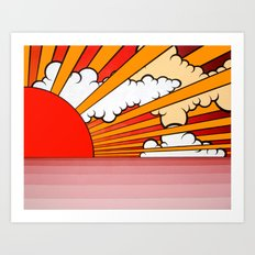 Take Me Away From The Wind And The Rain. Art Print