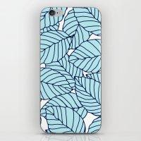 Sweet leafs: Aqua Navy iPhone & iPod Skin