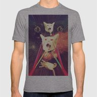 Galactic Cats Saga 4 Mens Fitted Tee Athletic Grey SMALL