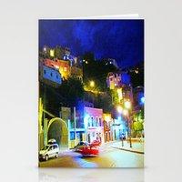 Guanajuato at night Stationery Cards