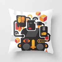 See no evil. Throw Pillow