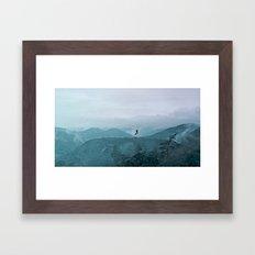 Blue smoky mountains Framed Art Print