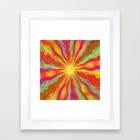August Sun Framed Art Print