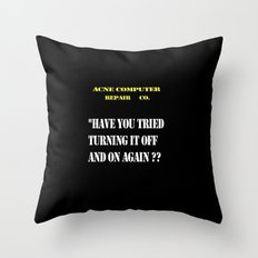 Computer repair Throw Pillow