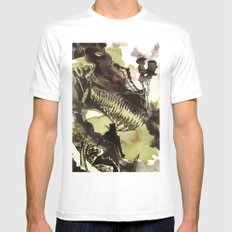 Steampunk Dragon White Mens Fitted Tee SMALL