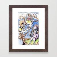 Nightman Cometh Framed Art Print