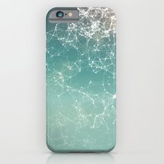 Fresh summer abstract background. Connecting dots, lens flare iPhone 6s Slim Case