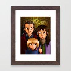 American Family Portrait (Redrum) Framed Art Print