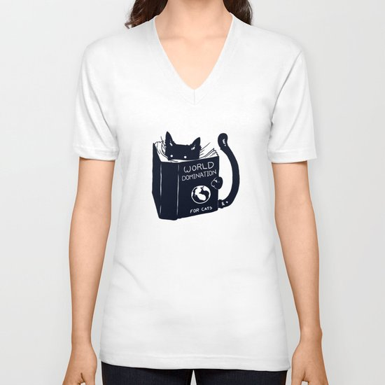 World Domination For Cats V-neck T-shirt