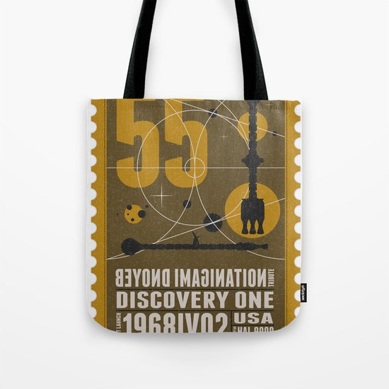 Beyond imagination: Discovery One postage stamp Tote Bag