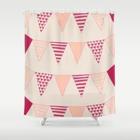 Bunting Shower Curtain
