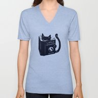 Unisex V-Neck featuring World Domination For Cat… by Tobe Fonseca