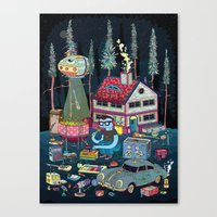 TAPING Canvas Print
