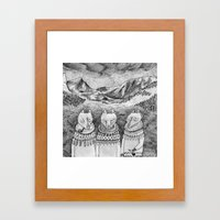 Icelandic Foxes Framed Art Print