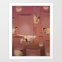 Lights Off, Lift Off Art Print