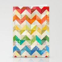 Chevron Rainbow Quilt Stationery Cards