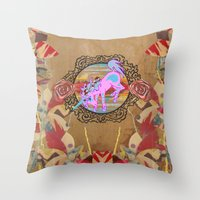 Giddy-Up Fairytale Cowgirl Unicorn Throw Pillow