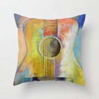 Guitar Melodies Throw Pillow