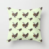 Green Hummingbirds Throw Pillow