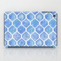 Cornflower Blue Moroccan Hand Painted Watercolor Pattern iPad Case
