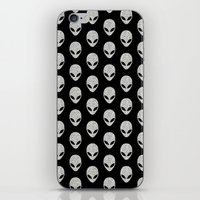 Glitter Grey Aliens iPhone & iPod Skin