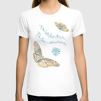 Butterflies Like Flowers… Womens Fitted Tee White SMALL