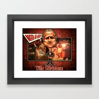 The Godfather concept! Framed Art Print