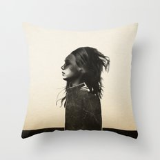 Unusual Encounter Throw Pillow