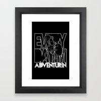 Every Day I'm Adventurin' - Light Framed Art Print