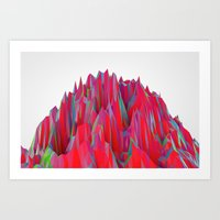 Cristal Mountain  Art Print