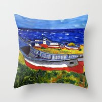 Flota de Coquimbo Throw Pillow