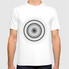 Mandala 01 Mens Fitted Tee White SMALL
