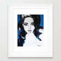 Miss M. in Blue  Framed Art Print
