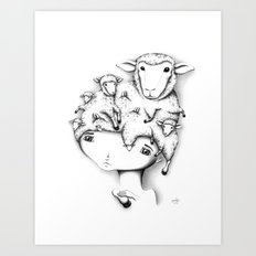 Merino Mutation Art Print