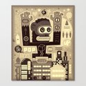 Pop Monk vintage Canvas Print