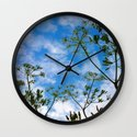 Cloud flowers Wall Clock