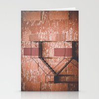 Red Brick, Fire Escape Stationery Cards